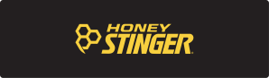 Honey Stinger - Black Banner - Yellow Text